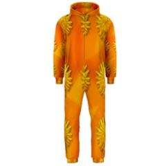 Dandelion Pattern Hooded Jumpsuit (Men)