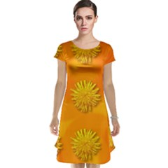 Dandelion Pattern Cap Sleeve Nightdresses