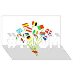 Flag Bouquet #1 MOM 3D Greeting Cards (8x4)