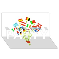 Flag Bouquet Party 3d Greeting Card (8x4)
