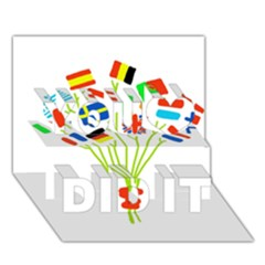 Flag Bouquet You Did It 3D Greeting Card (7x5)