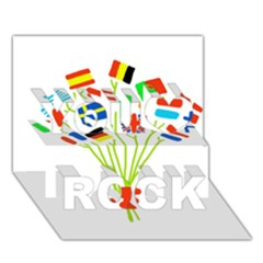 Flag Bouquet You Rock 3D Greeting Card (7x5)