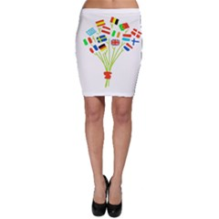 Flag Bouquet Bodycon Skirts