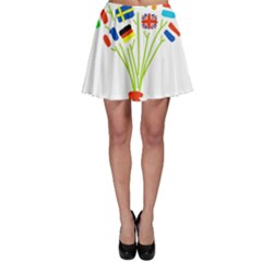 Flag Bouquet Skater Skirts