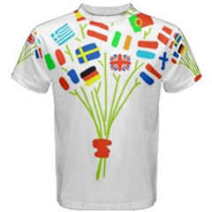 Flag Bouquet Men s Cotton Tees