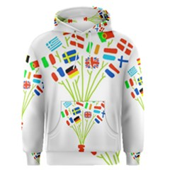 Flag Bouquet Men s Pullover Hoodies