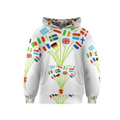Flag Bouquet Kid s Pullover Hoodies