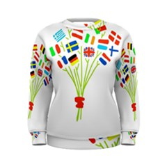 Flag Bouquet Women s Sweatshirts