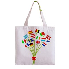 Flag Bouquet Zipper Grocery Tote Bags