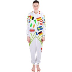 Flag Bouquet Hooded Jumpsuit (Ladies)