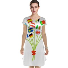 Flag Bouquet Cap Sleeve Nightdresses
