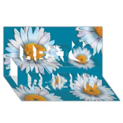 Floating Daisies Best Friends 3D Greeting Card (8x4)