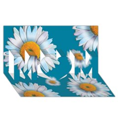 Floating Daisies MOM 3D Greeting Card (8x4)