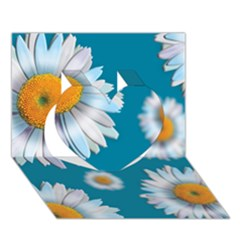 Floating Daisies Heart 3D Greeting Card (7x5)