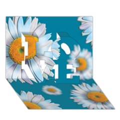 Floating Daisies Love 3d Greeting Card (7x5)
