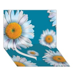 Floating Daisies Heart Bottom 3D Greeting Card (7x5)