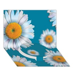 Floating Daisies Circle Bottom 3D Greeting Card (7x5)