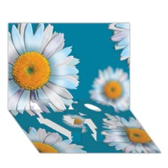 Floating Daisies Love Bottom 3d Greeting Card (7x5)