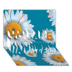 Floating Daisies YOU ARE INVITED 3D Greeting Card (7x5)