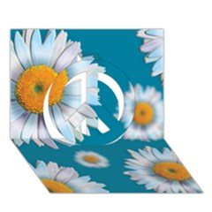 Floating Daisies Peace Sign 3d Greeting Card (7x5)