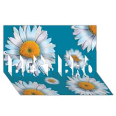 Floating Daisies BEST BRO 3D Greeting Card (8x4)