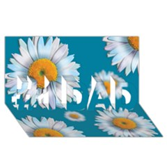 Floating Daisies #1 DAD 3D Greeting Card (8x4)