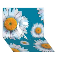 Floating Daisies Ribbon 3D Greeting Card (7x5)