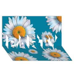 Floating Daisies Party 3d Greeting Card (8x4)