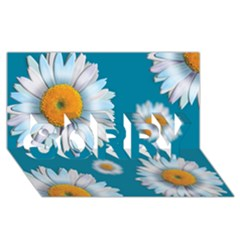 Floating Daisies Sorry 3d Greeting Card (8x4)