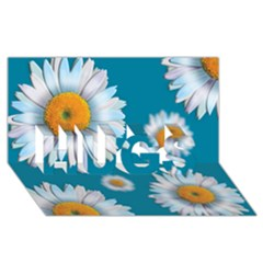 Floating Daisies Hugs 3d Greeting Card (8x4)