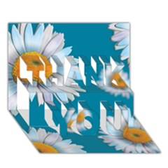 Floating Daisies THANK YOU 3D Greeting Card (7x5)