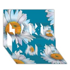 Floating Daisies Take Care 3d Greeting Card (7x5)
