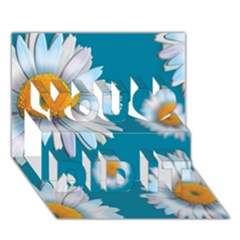 Floating Daisies You Did It 3d Greeting Card (7x5)