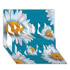 Floating Daisies You Rock 3D Greeting Card (7x5)