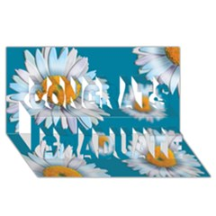Floating Daisies Congrats Graduate 3d Greeting Card (8x4)