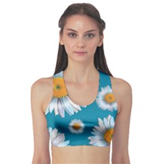 Floating Daisies Sports Bra