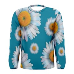 Floating Daisies Men s Long Sleeve T-shirts