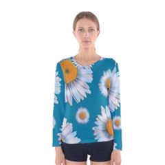 Floating Daisies Women s Long Sleeve T-shirts