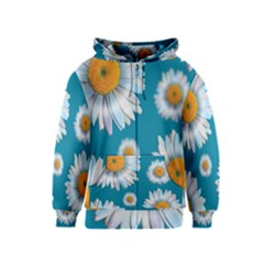 Floating Daisies Kids Zipper Hoodies