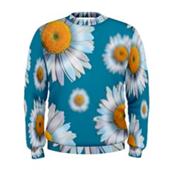 Floating Daisies Men s Sweatshirts