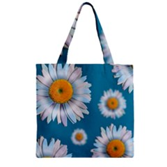 Floating Daisies Zipper Grocery Tote Bags