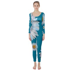 Floating Daisies Long Sleeve Catsuit