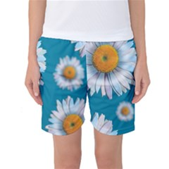 Floating Daisies Women s Basketball Shorts