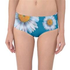 Floating Daisies Mid-Waist Bikini Bottoms