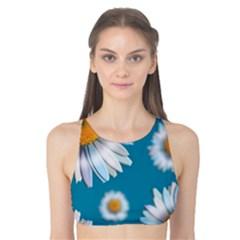 Floating Daisies Tank Bikini Top