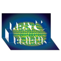 People Planet  Best Friends 3D Greeting Card (8x4)