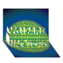 People Planet  You Are Invited 3d Greeting Card (7x5)