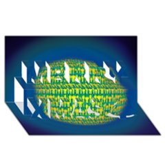 People Planet  Merry Xmas 3d Greeting Card (8x4)
