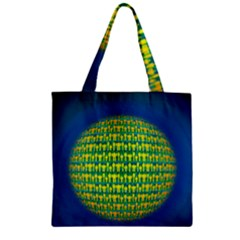 People Planet  Zipper Grocery Tote Bags