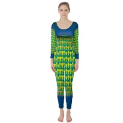 People Planet  Long Sleeve Catsuit